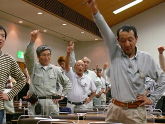 筑紫支部で班長以上学習会