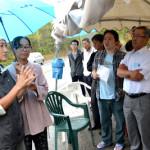 ヘリパッド建設反対にたたかう東村高江を激励訪問