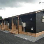 豪雨被災地の応急木造仮設住宅建設で大奮闘
