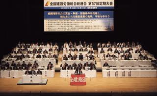 全建総連第57回定期大会 初の福岡開催(1,600人)