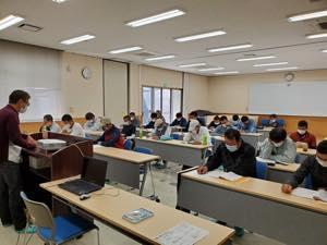 丸のこ安全教育講習会の模様