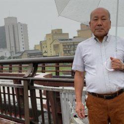 原田副支部長と原鶴温泉